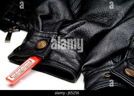 leather clothing theft stealing coat anti device clothes mantle object model - Stock Photo