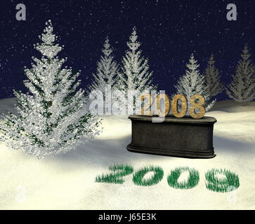 new year 2009 - Stock Photo