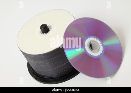 virtual memory memory ram store dvd CD ruffian data medium spindle music - Stock Photo