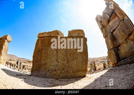 Ancient Persian Ruins of Persepolis in Iran - Stock Photo