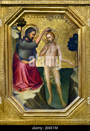 The Baptism of Christ 1387-8, Probably by Lorenzo Monaco active 1399; died 1423 or 1424 Italy Italian - Stock Photo