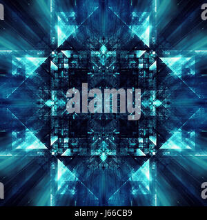 Abstract digital fractal concept based around digital data - Stock Photo