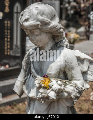 Western Road Cemetery on the island of Penang, Malaysia - Stock Photo