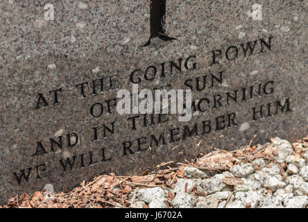 Commonwealth War Graves Commission (CWGC) headstones in Western Road Cemetery on the island of Penang, Malaysia - Stock Photo