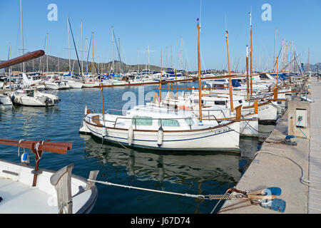 marina in Port de Pollenca, Majorca, Spain - Stock Photo