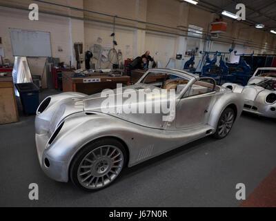 Hand made cars at Morgan Cars in Malvern, UK Stock Photo: 3912981 ...