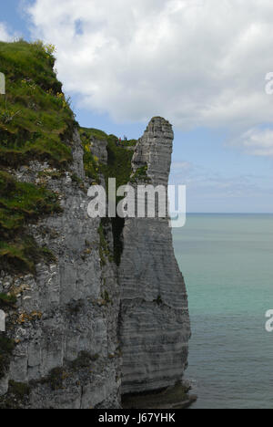 cretaceous rock in etretat - Stock Photo