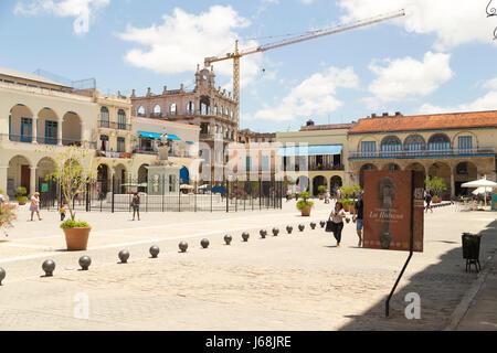 Old Square (plaza vieja), Havana, Cuba - Stock Photo