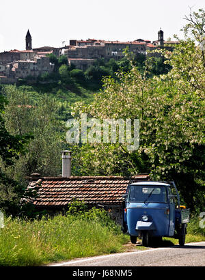 piaggio at seggiano (tuscany) - Stock Photo