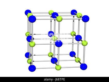 work job labor salt science crystal element chemistry x-ray sodium render work - Stock Photo