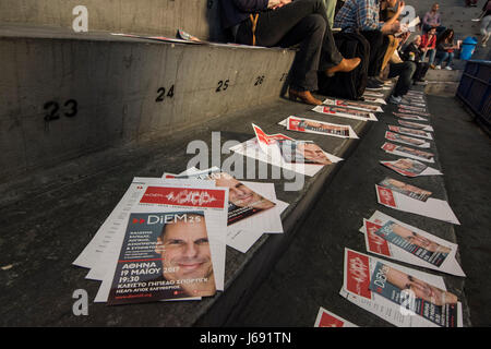 Athens, Greece. 19th May, 2017. Renowned Greek economist, academic and former Minister of Finance Yanis Varoufakis - Stock Photo