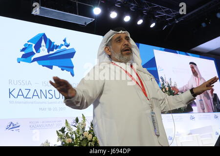 Kazan, Russia. 19th May, 2017. Chairman of The Kanoo Group, Mishal Hamed Kanoo, speaks at the 9th International - Stock Photo