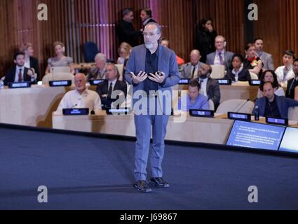 United Nations, New York, USA, May 17 2017 - Astro Teller, Chief Executive Officer of Google X during the General - Stock Photo