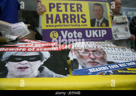 Elm Park, East London. UK. 20 May 2017 - UKIP leader Paul Nuttall visits Elm Park, East London, as campaigning continues - Stock Photo