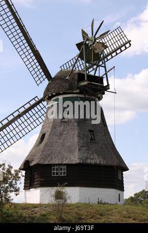 berg dutch windmill - Stock Photo