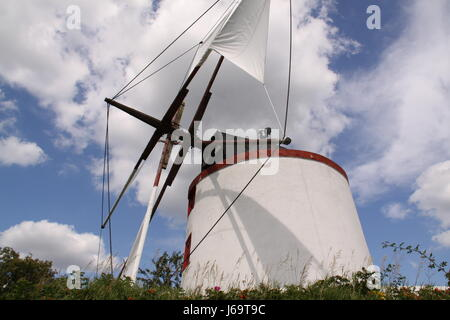 spanish windmill in closeup - Stock Photo