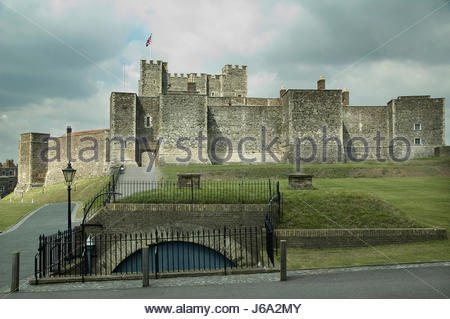 tower stronghold stone strategic roman firmament sky security safety walls - Stock Photo