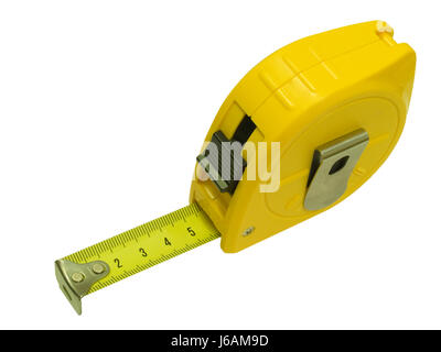 isolated engineering measured sured measure accuracy architect tape instrument - Stock Photo