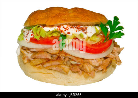 almost turkish turkish dner food dnerfleisch hhnchendner dner fast food - Stock Photo