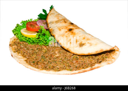 turkish turkish dner lahmacun food dnerfleisch hhnchendner hhnchenfleisch dner - Stock Photo
