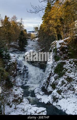 Reekie Linn Falls, Angus - Stock Photo