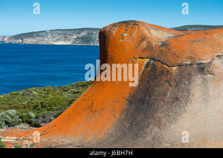 Remarkable Rocks, Flinders Chase National Park, Kangaroo Island, South Australia. - Stock Photo