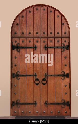 church doors medieval gothic church antique doors medieval castle hinges old - Stock Photo