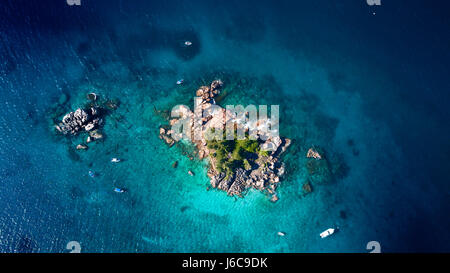 Aerial view of Ille Pierre Island, Seychelles