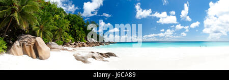 White sand beach, Seychelles - Stock Photo
