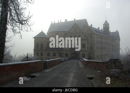 winter fog frost foggy winter fog europe lake constance frost germany german - Stock Photo