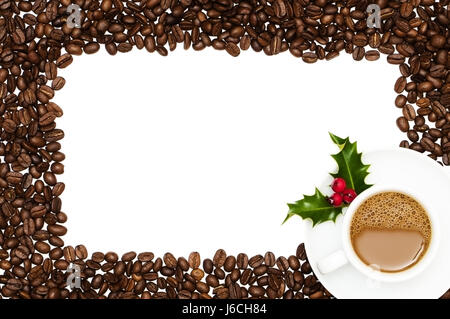 christmas frame coffee framework xmas x-mas border cafe cup drink ...