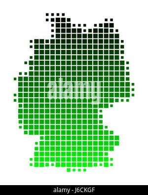 green square card globe planet earth world quadrangle design shaping formation - Stock Photo