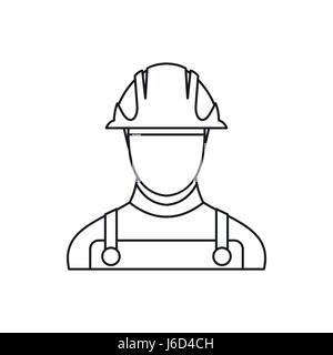 Builder icon in outline style - Stock Photo