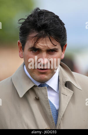 Trainer Hugo Palmer before The Al Rayyan Stakes run during Al Shaqab Lockinge Day at Newbury Racecourse. - Stock Photo