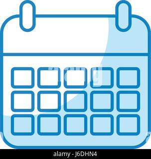 calendar icon in trendy flat style - Stock Photo