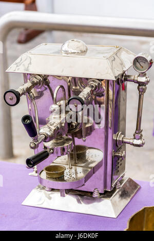 Antique and unique coffee making machine - only in Portugal - Stock Photo