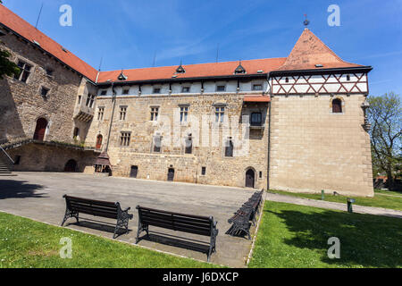 Gothic Water Castle Budyne Nad Ohri, Northern Bohemia, Czech Republic, Europe - Stock Photo