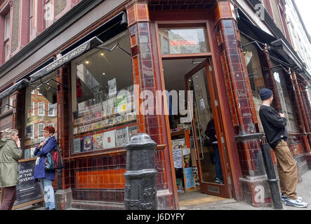 Sounds of the Universe specialist record shop in Soho, London - Stock Photo