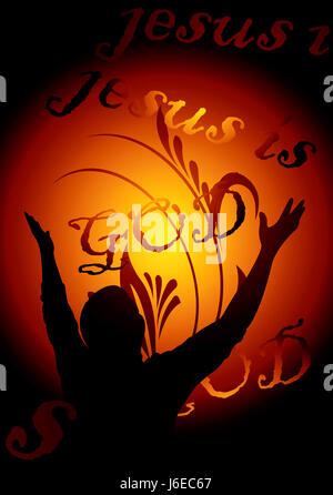 religion god christianity worship praying church cross chapel illustration - Stock Photo