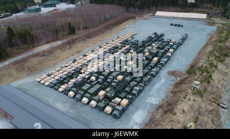 Combat Logistics Regiment 45 and 2nd Transportation Support Battalion drew approximately 500 principal end items - Stock Photo