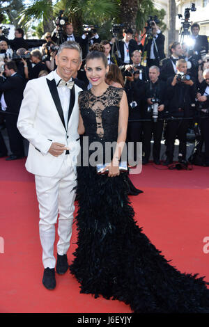 70th Cannes Film Festival 2017, Red carpet film '120 Beats Per Minute'. Pictured:  Gianluca Mech, Aida Flix - Stock Photo
