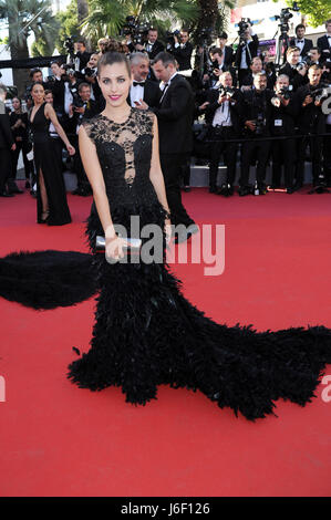 70th Cannes Film Festival 2017, Red Carpet film '120 Beats Per Minute (120 Battements Par Minute)' Pictured : Aida - Stock Photo