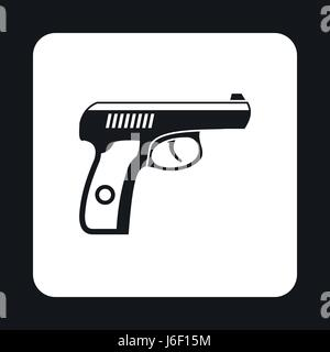 Gun icon in simple style - Stock Photo