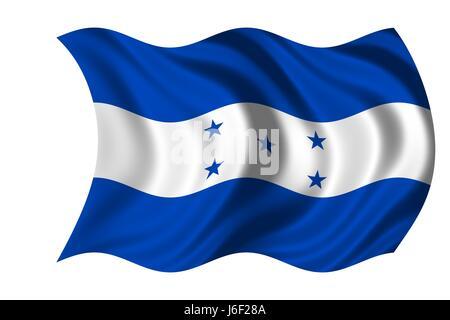 flag honduras - Stock Photo
