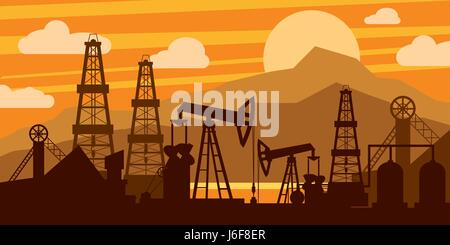 Oil platform concept - Stock Photo