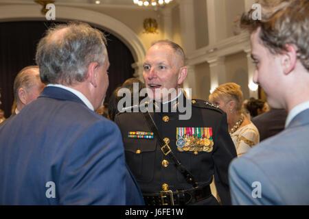 U.S. Marine Corps Lt. Gen. Mark A. Brilakis, deputy commandant, Marine Corps Manpower and Reserve Affairs, speaks - Stock Photo