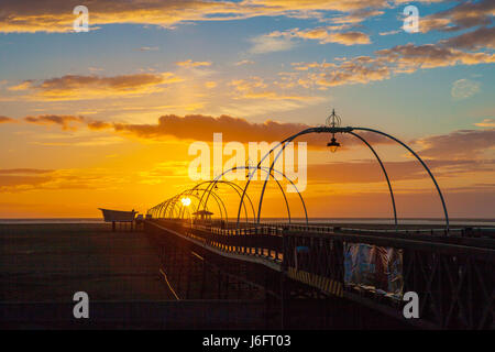 Southport, Merseyside, 20th May 2017. UK Weather.  After a day of very unsettled weather with occasional heavy rain - Stock Photo