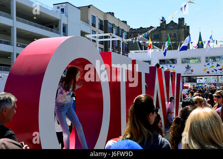 Ottawa, Canada - May 20, 2017: Inspiration Village, a temporary attraction built to help celebrate Canada's 150th - Stock Photo