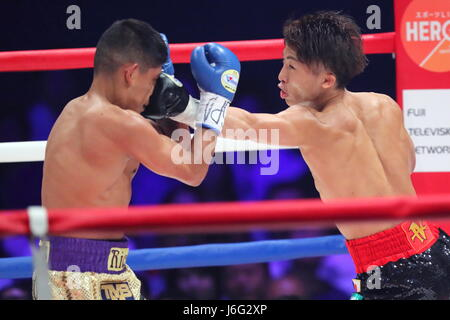 Ariake Coliseum, Tokyo, Japan. 21st May, 2017. (L-R) Ricardo Rodriguez (USA), Naoya Inoue (JPN), MAY 21, 2017 - - Stock Photo