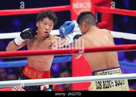 Ariake Coliseum, Tokyo, Japan. 21st May, 2017. (L-R) Naoya Inoue (JPN), Ricardo Rodriguez (USA), MAY 21, 2017 - - Stock Photo